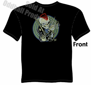 Rocker Skull T Shirt Kustom Kulture Tee Garage Clothing