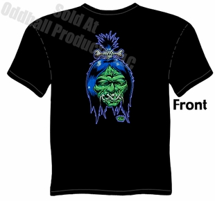Shrunken Head T Shirt Kustom Kulture Tee Garage Apparel