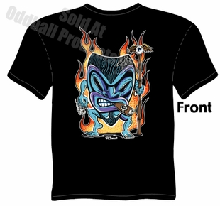 Smokin' Tiki T Shirt Kustom Kulture Tee Garage Clothing