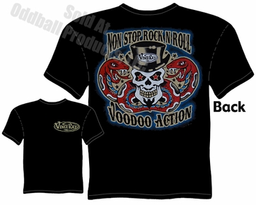 Non Stop Rock N Roll Voodoo T Shirt Kustom Kulture Tee Tattoo Clothing