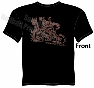 Murdercycle Chopper T Shirt Kustom Kulture Apparel Garage Tee