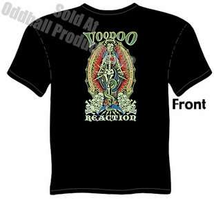 Voodoo Reaction T Shirt Kustom Kulture Apparel Garage Tee