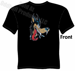 Hot Rod Wolf T Shirt Kustom Kulture Apparel Garage Tee