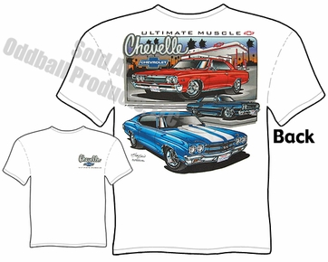Muscle Cars - 1965 - 1970 Super Sport Chevelle T-shirt