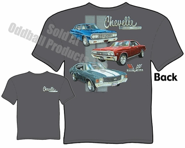 Muscle Cars - 64, 67, 71 Chevelle T-shirt