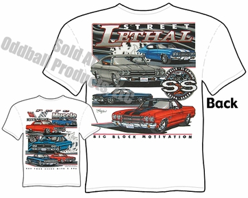Muscle Cars - 64 - 70 SS El Camino / SS Chevelle T-shirt
