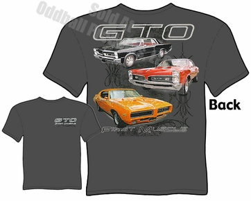 Muscle Cars - 65, 67, 69 Pontiac GTO T shirt