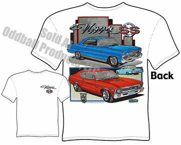 Muscle Cars - 66 - 72 Chevy Super Sport Nova T-shirt