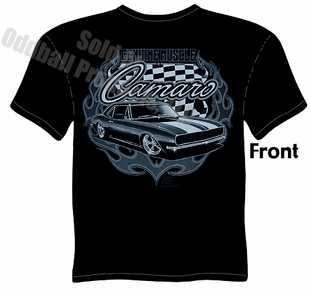 Muscle Cars - Black Genuine Muscle 67 68 Camaro T-shirt