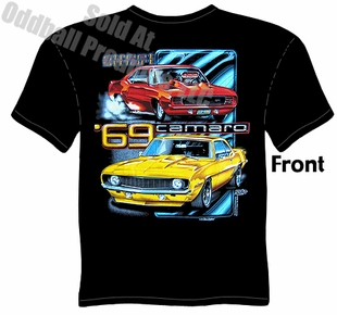 Muscle Cars - Black Street Smart 1969 Camaro T-shirt