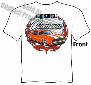 Muscle Cars - Genuine Muscle 67 68 Camaro T-shirt