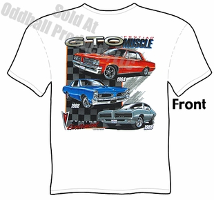 Muscle Cars - Pontiac 64, 66, 69 GTO T shirt
