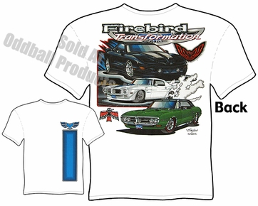 Pontiac Firebird T shirt 67 68 69 70 Muscle Car Clothing 1967 1968 1969 1970