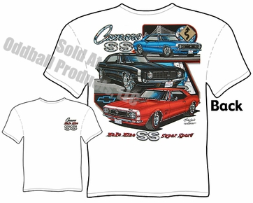 Muscle Cars - Super Sport Camaro 67, 68, 69 T-shirt