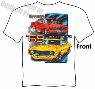 Muscle Cars - White Street Smart 1969 Camaro T-shirt