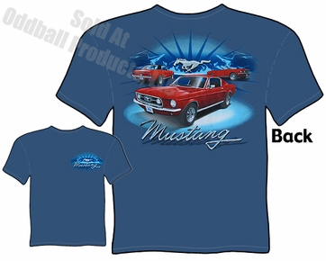 Mustang - 3 Red Mustangs 1967 & 1968 T-shirt