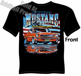 65 66 Mustang T Shirt 1965 1966 Ford Apparel Ponycar Tee