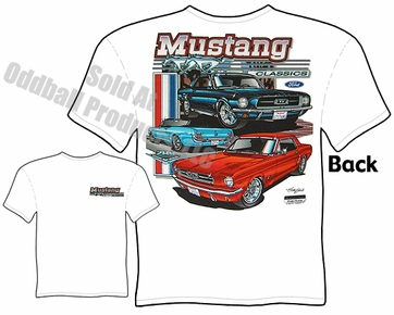 65 66 67 68 Mustang T Shirt 1965 1966 1967 1968 Ford Clothing Tee