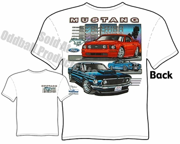 67 68 69 Ford Mustang T Shirt 1967 1968 1969 Evolution Ponycar Tee