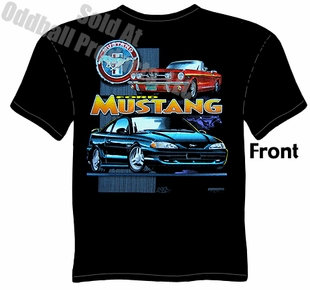 65 66 Mustang T Shirt 1965 1966 Ford Ponycar Clothing