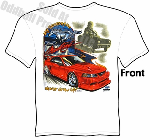 Mustang T Shirt Never Grow Up Ford Tee