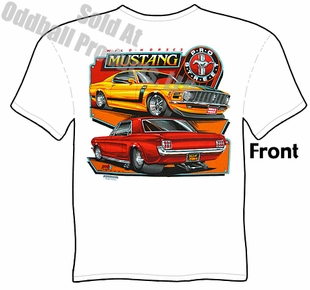 65 66 67 68 Mustang T Shirt 1965 1966 1967 1968 Ford Ponycar Clothing