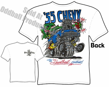 Rat Fink Apparel Big Daddy T Shirts 1955 55 Chevy Rat Fink T shirt