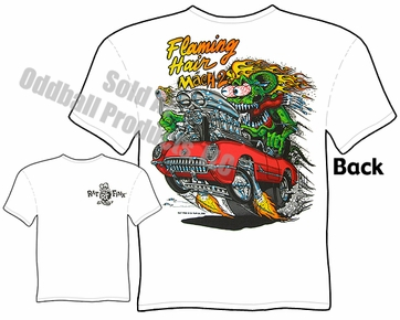 Rat Fink Shirts Ed Roth T Shirts Corvette Flaming Hair Rat Fink T Shirt