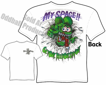 Rat Fink T Shirt Big Daddy Tee My Space Ed Roth Clothing