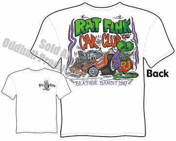 Rat Fink T-Shirt Ed Roth Tee Beatnik Bandit Rat Fink Car Club T Shirt