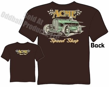 1932 Ford Roadster T Shirt ACME Speed Shop Bonneville 32 Hot Rod Tee