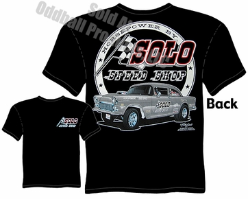 1955 Chevy Gasser T-shirt Solo Speed Shop Tee 55 Chevrolet Clothing