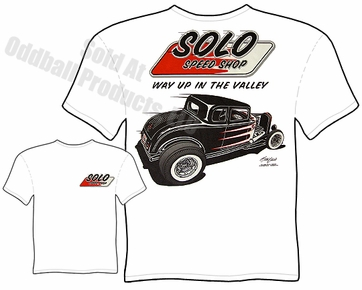 1932 Ford T Shirt Solo Speed Shop 32 Hot Rod Tee
