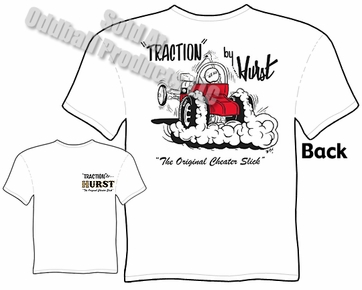 Traction By Hurst T Shirt Vintage Drag Racing Tee