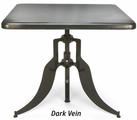 Adjustable Height Table Dark Vein Base 36 Quot Square Top At36sq