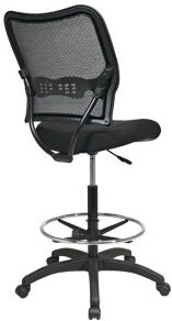 Space Seating Air Grid Back Mesh Drafting Chair [13-37N20D]