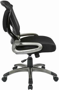 Work Smart Mesh Task Chair with Flip Up Arms [EM35207]
