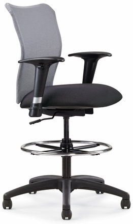 Allseating Inertia Mesh Drafting Chair [78019]
