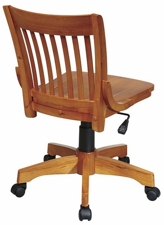 armless wood office chair with wheels. osp designs deluxe armless wood bankers chair with seat [101] office wheels e