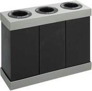 At-Your-Disposal� Recycling Trash Can Three 28 Gallon Bins Black [9798BL]