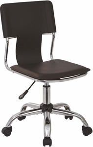 Ave Six Carina Task Chair in Espresso Vinyl [CRN26-ES]