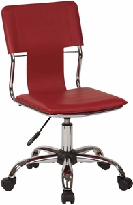 Ave Six Carina Task Chair in Red Vinyl [CRN26-RD]