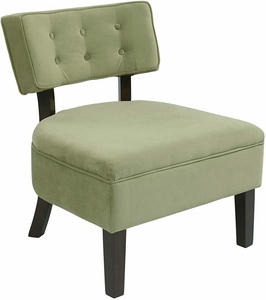 Office star accent chair spring green velvet cvs263 g28 for Ave six curves velvet chaise lounge