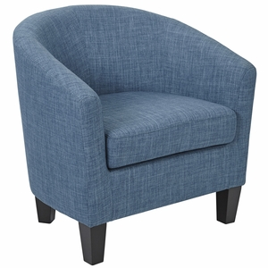 Ave Six Ethan Tub Chair in Blue Denim Fabric [ETN-L37]
