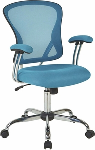 Ave Six Juliana Task Chair in Blue Mesh [JUL26-7]