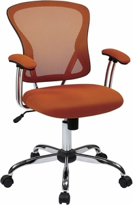 Ave Six Juliana Task Chair in Orange Mesh [JUL26-18]
