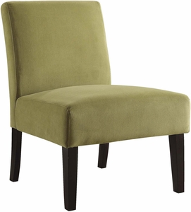 Ave Six Laguna Chair Basil Velvet Fabric Dark Espresso Legs [LAG51 B39]
