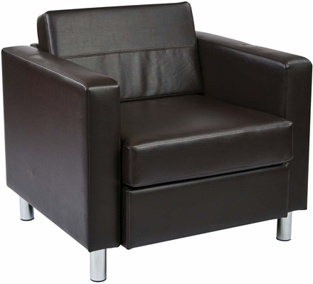 Ave Six Pacific Espresso Faux Leather Armchair [PAC51 V34]