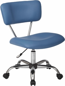 Ave Six Vista Task Office Chair In Blue Faux Leather [ST181-U7]