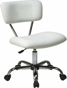 Ave Six Vista Task Office Chair In White Vinyl [ST181-V11]